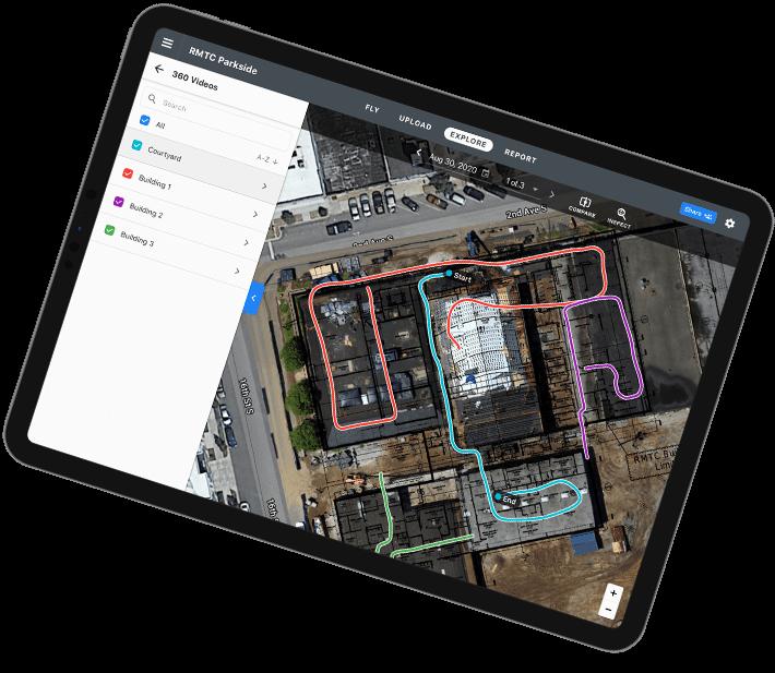 Drone software platform desktop and mobile